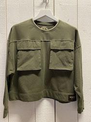 Tröja med fickor, grön från Mos Mosh