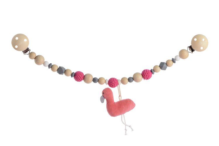 ekologiskt barnvagnshänge  med en flamingo från kikadu