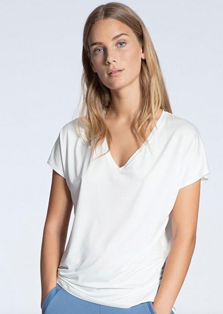 Calida - t-shirt v-ringad