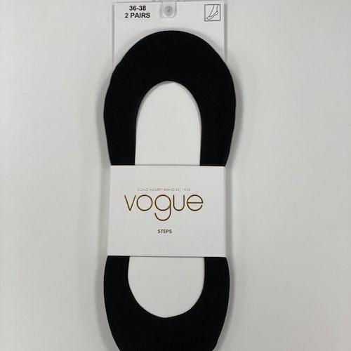Vogue - steps med silikonrand (2pack svart)