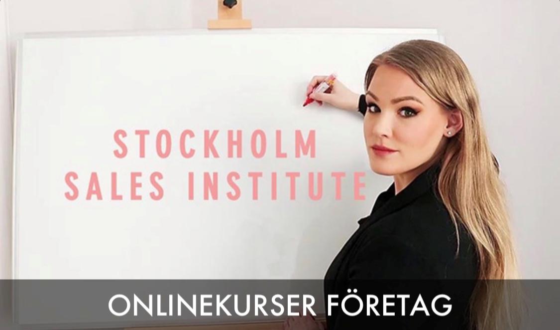 Stockholm Sales Institute > Onlinekurser företag