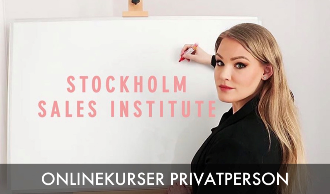 Stockholm Sales Institute > Onlinekurser privatperson