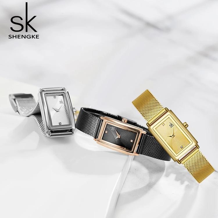 Damklocka SK Florence Gold / Gold Mesh Gold. Quartz Japan