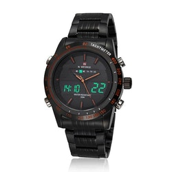 Herrklocka NaviForce Sport.  Black / Black / Black. Analog / Digital. Quartz Japan