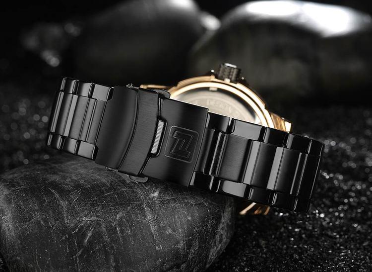 Herrklocka NaviForce More Elegance. Rose / Black / Black. Quartz Japan
