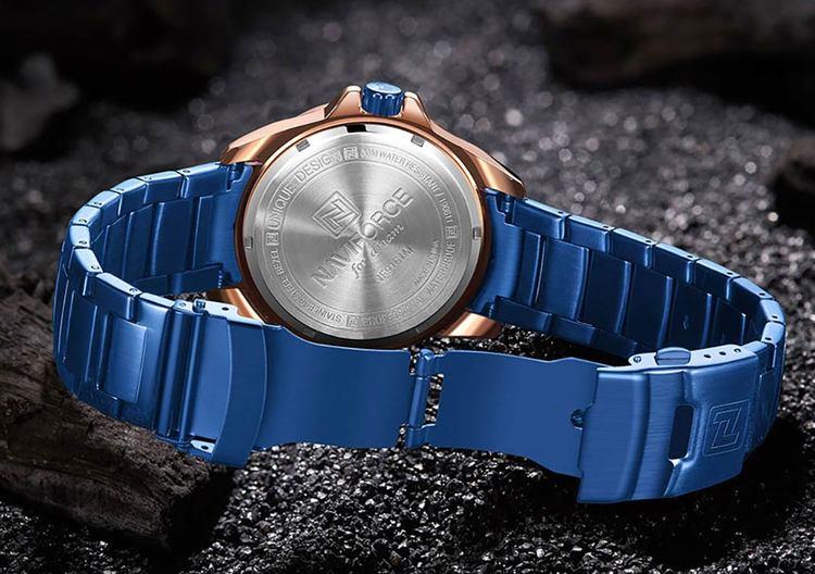 Herrklocka NaviForce Gent. Blue / Blue. Stainless steel blue. Quartz Japan