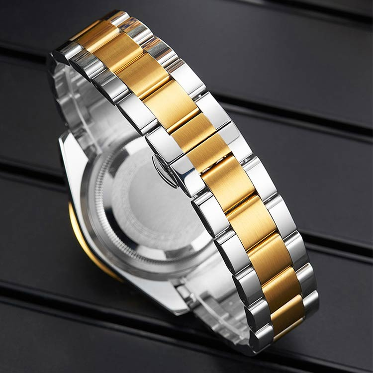 Herrklocka Megalith Lux. Steel / Gold / Black. Quartz Japan