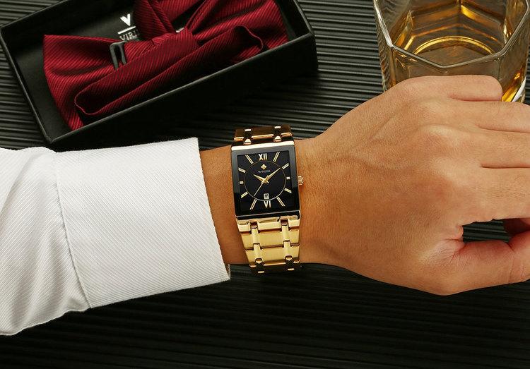 Herrklocka Wwoor Boss.  Gold / Black / Gold. Quartz Japan