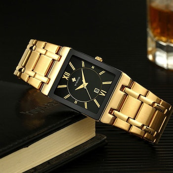 Herrklocka Wwoor Boss.  Gold / Black / Gold. Quartz Japan