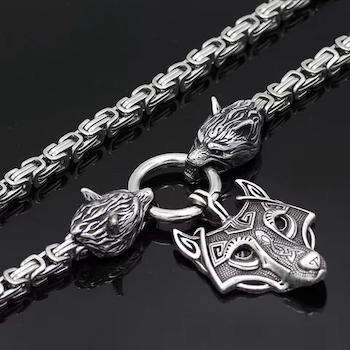 Halsband Viking Wolf-Freke 6 Kejsarlänk 60 cm