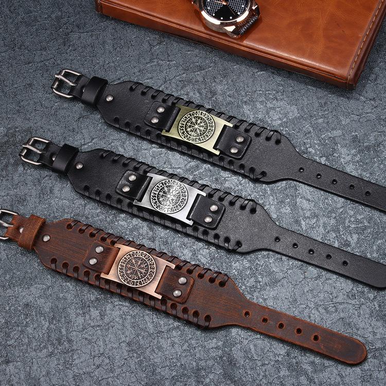 Läderarmband Viking 5 27,5 x 4 cm