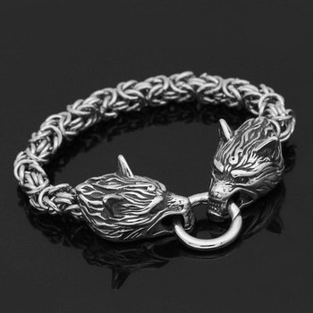 Armband Viking Wolf Kungslänk 21 cm