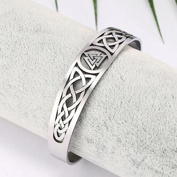 Armband Valknut Silver 165mm