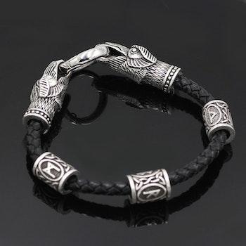 Läderarmband Viking Wolf Läderarmband 21 cm