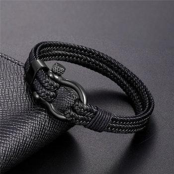 Armband Schackel. Nylonband med metall schackel och låsning