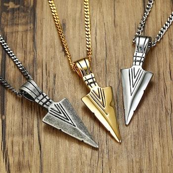 Halsband Arrow Silverfärg 60 cm