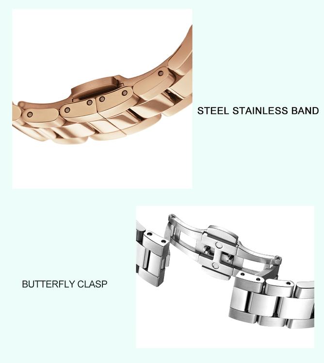 Hannah Martin Akoya Pearl. Silver / Offwhite. Länk Steel. Japan Quartz