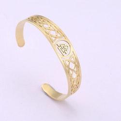 Armband Valknut Guldfärgat