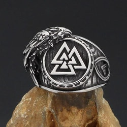 Vikingring Valknut-Korpen Hugin