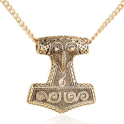 Halsband Mjölner Gotland Guld