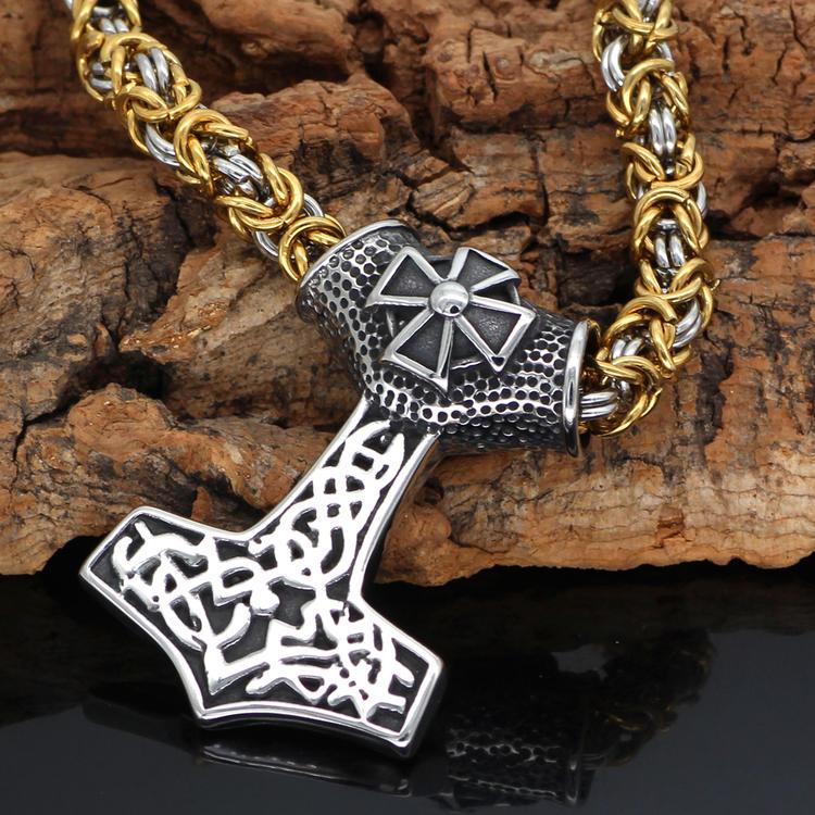Halsband Kungslänk Thors Special. 60 cm