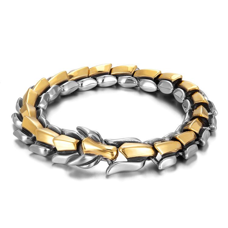 Armband Viking-Wolf Gold/ Steel- Super