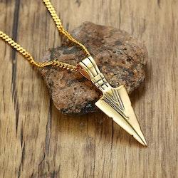 Halsband Arrow Guldfärg 60 cm