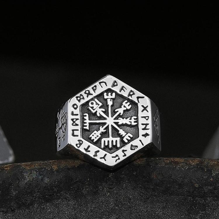 Vikingring Kompass-Valknut