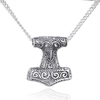 Halsband Mjölner Gotland Silver