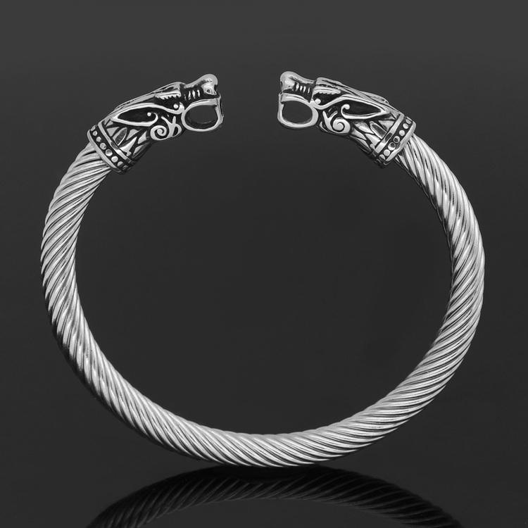 Armband Wolfhead Steel 21 cm