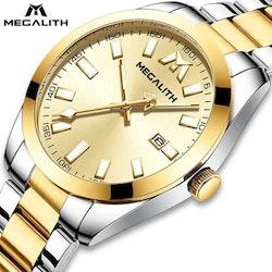 Herrklocka Megalith Original. Steel / Gold / Steel/Gold. Quartz Japan