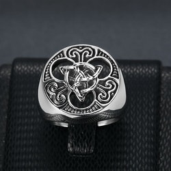 Ring Viking Celtic Knot / Valknut 2 Special
