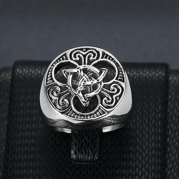 Ring Viking Celtic Knot / Valknut 2 Special
