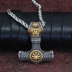 Halsband Viking Thor Aeigushjalmur