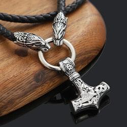 Halsband Thors hammare. Wolf Jaw. 60 cm