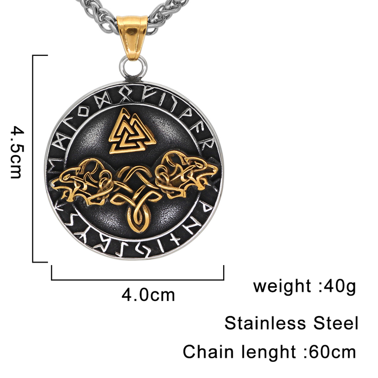Halsband Viking. Amulett All in