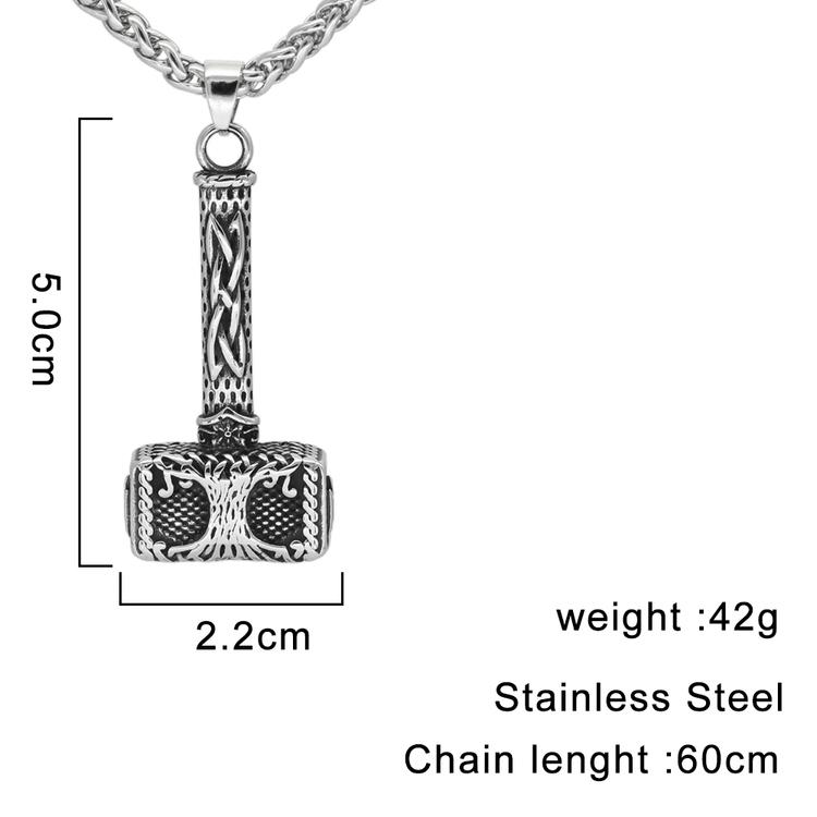 Halsband Viking. Hammer Yggdrasil