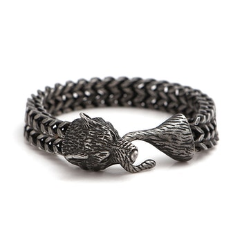 Armband Viking Wolf Bite Oxiderat