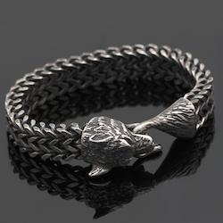 Armband Viking Wolf Bite Steel