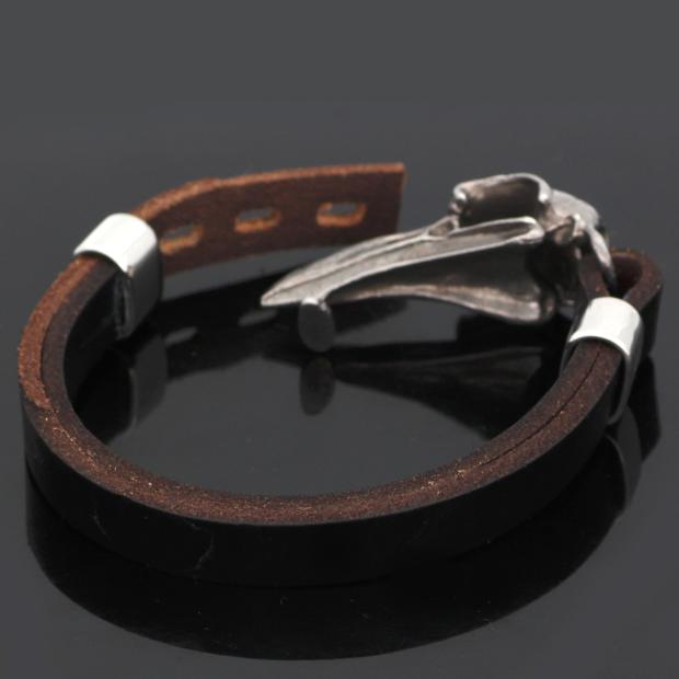 Armband Viking Korpskalle Svart / Steel