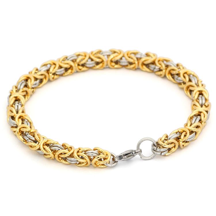 Armband  Viking. Kungslänk Steel / Gold
