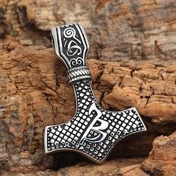 Halsband Thors hammare Balder Silver