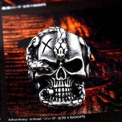Ring Dödskalle Skull 4 Biker