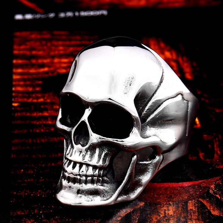 Ring Dödskalle Skull 2 Biker