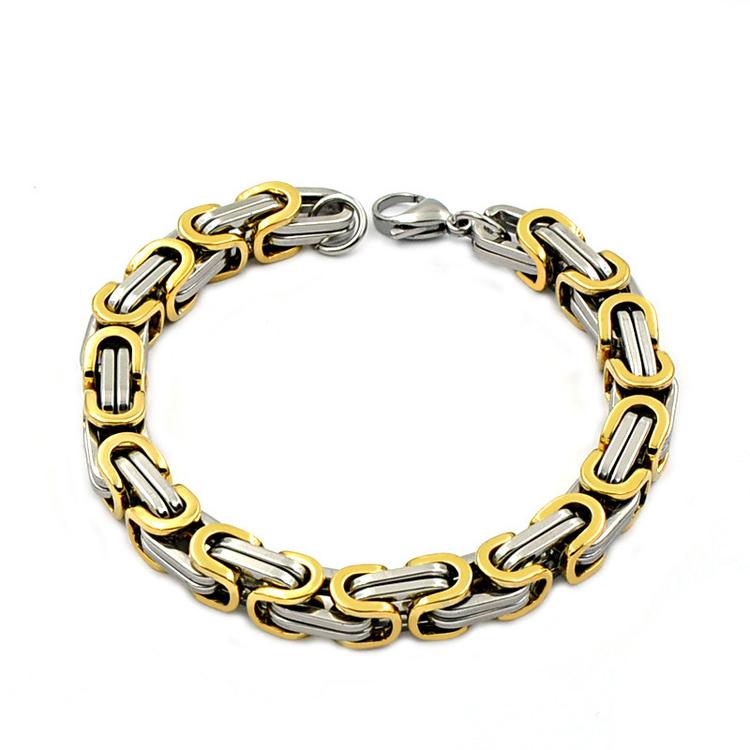 Armband Kejsarlänk Silver / Guldfärgad