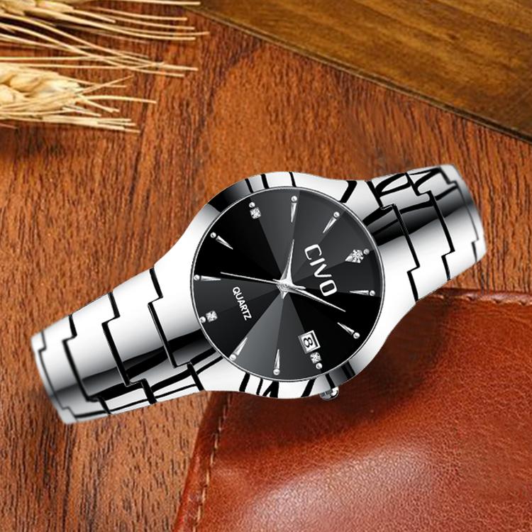 Klocka Civo Delicious. Steel / Black. Quartz Japan