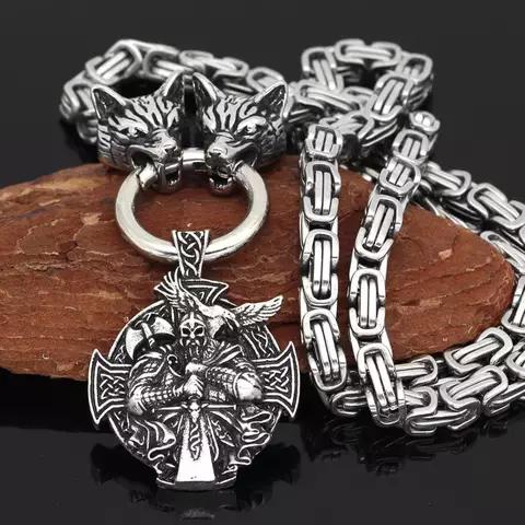 Halsband Viking Wolf-Oden Kejsarlänk 60 cm
