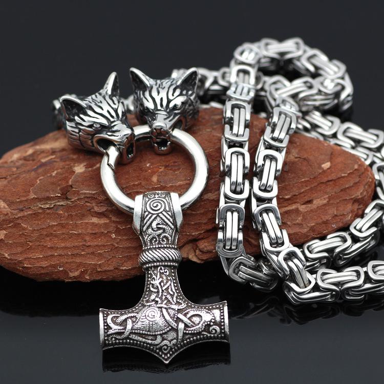 Halsband Viking Wolf-Thorshammare 2