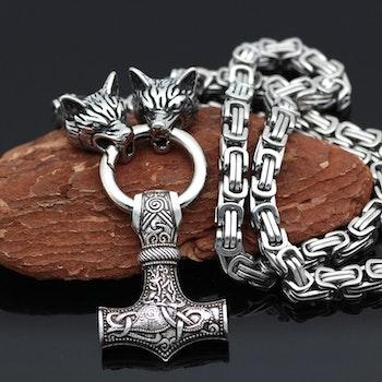 Halsband Viking Wolf-Thorshammare 2 Kejsarlänk