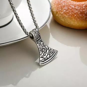 Halsband Viking Yxa 14 med ankarlänk 60 cm